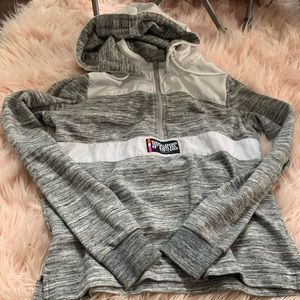 VS PINK Grey and White Hoodie XS